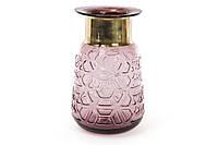 Стеклянная ваза 23см, цвет - фиолетовое стекло с медью BonaDi 591-200