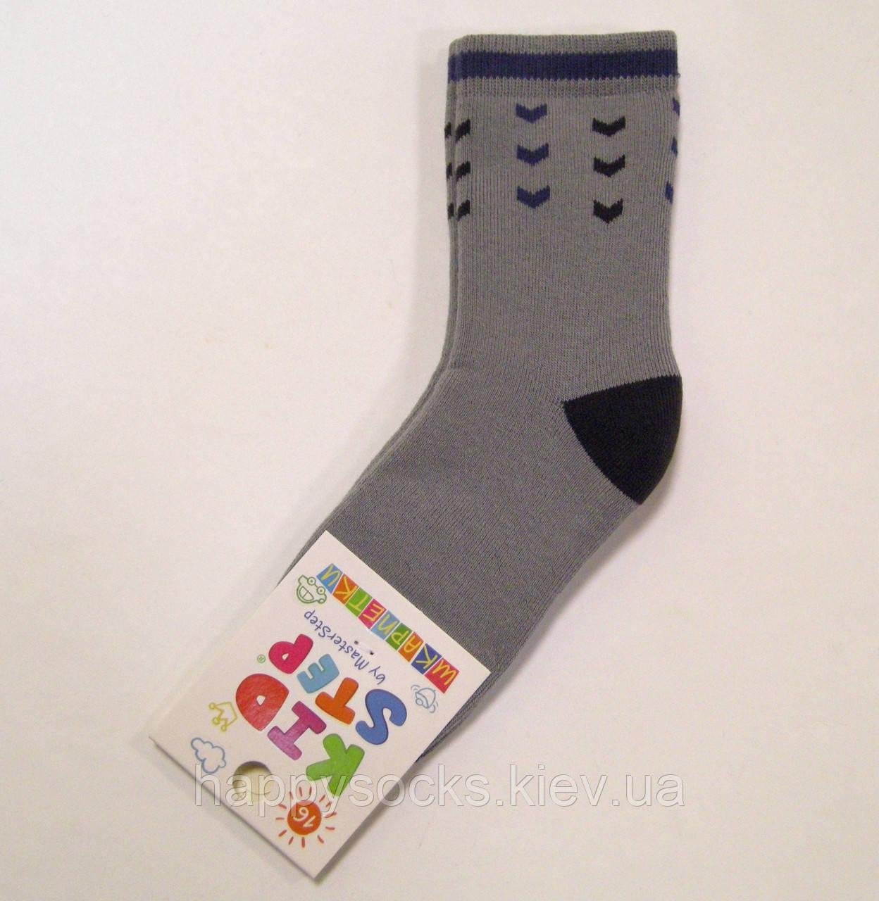 Теплі хлопчачі махрові бавовняні шкарпетки 16см(24-26р)