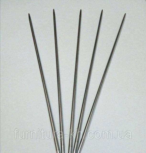 Носочные металлические  спицы для вязания 4.5 мм длинна 20 см