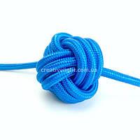 Синий провод в тканевой оплетке (2х0,5)