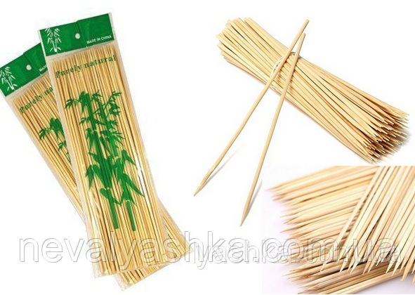 Бамбуковые Палочки25 см / 2,5 мм / ~100 шт для Деревянные Шпажки шашлыков еды закусок сладкой ваты 009808