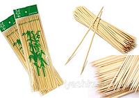 Бамбуковые Палочки ~100 шт /25 см / 2,5 мм для шашлыка Деревянные Шпажки шашлыков еды закусок сладкой ваты, фото 1