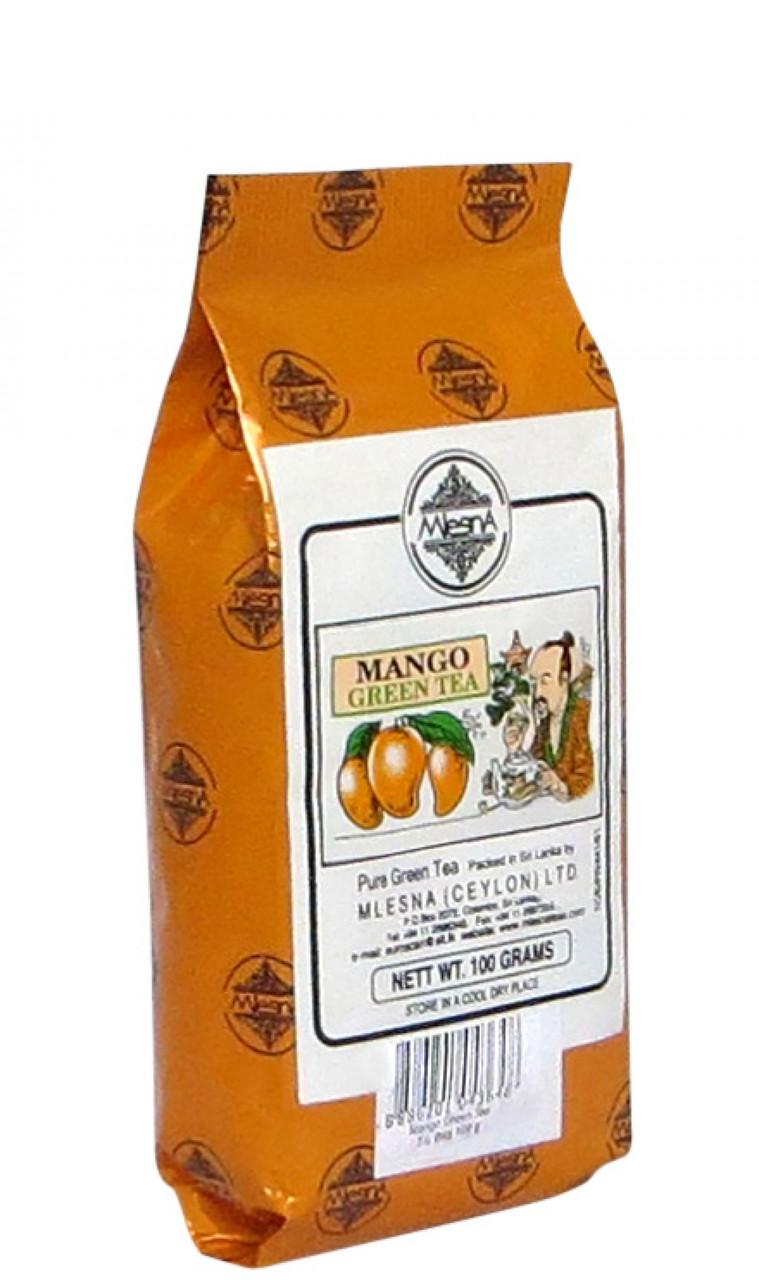 Зеленый чай Манго, MANGO GREEN TEA, Млесна (Mlesna) 100г.