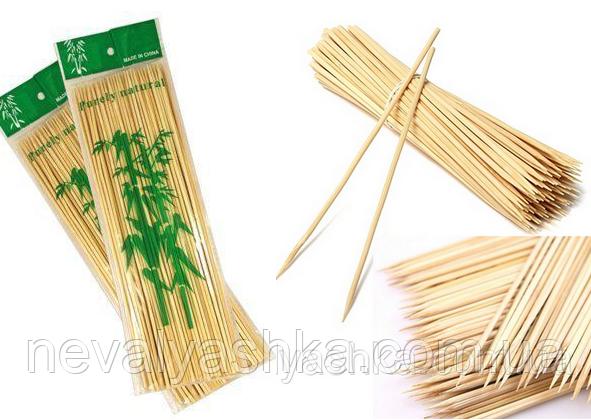 Бамбуковые Палочки 30 см / 2,5 мм / ~100 шт для шашлыка Деревянные Шпажки шашлыков еды сладкой ваты 009807