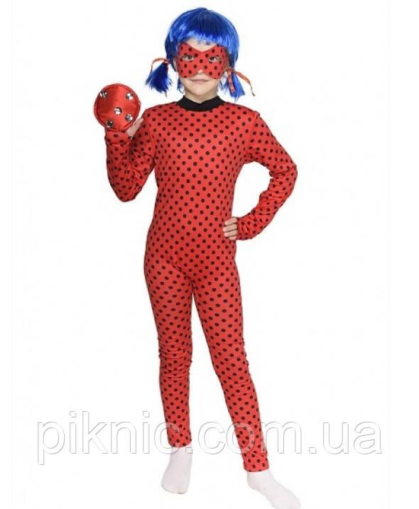 Детский костюм Леди Баг + парик для девочек 3,4,5,6,7,8 лет Костюм современный Супергерои 343