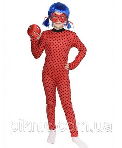 Детский костюм Леди Баг + парик для девочек 3,4,5,6,7,8 лет Костюм современный Супергерои 343, фото 2