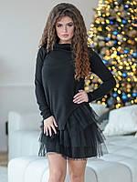 Хейли черное Платье-двойка, фото 1