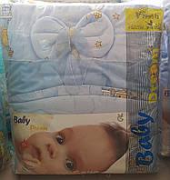 Детская постель 8-м элементов голубые мишке на лесенке