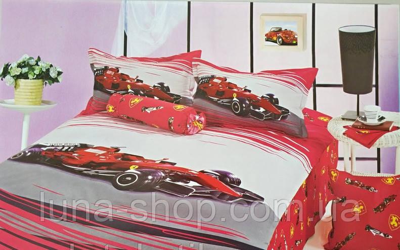 Постельный комплект Красная машина, сатин, Польша (ELWAY)