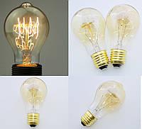 Лампа Эдисона, каплеобразная, ретро винтажная лампа, нить накаливания в форме петли, модель А19/А60