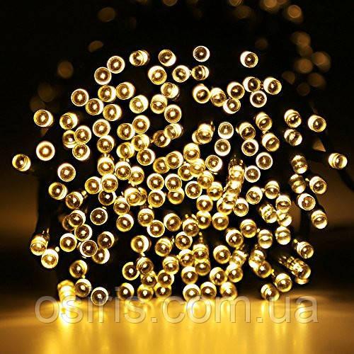 Гирлянда новогодняя цвет белый теплый светодиодная на 500 LED ламп, длина 20 м