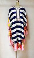 Платье - туника вышитая цветная копия бренда, фото 1