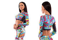 Топ спортивный Comics Blue — Long Sleeves, фото 1