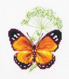 Набор для вышивки крестом RTO ЕН365 «Цветок тмина и бабочка»