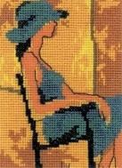 Набор для вышивки крестом RTO ЕН340 «Девушка в синем»