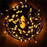 Гирлянда новогодняя желтая светодиодная на 300 LED ламп, длина 22 м  для помещений (ограничено для улицы)