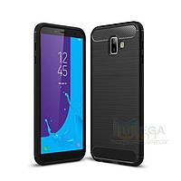 Силиконовый чехол Carbon для Samsung Galaxy J6 Plus 2018 (J610), фото 1