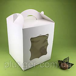 Коробка картонная для торта, пряничного домика 17 см х 17 см х высота 21см