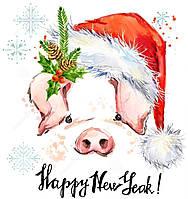"""Картинки для торта """"Новый год"""" А4, Галетте - 01262"""