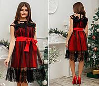 """Женское модное платье с кружевом   ( жіноча сукня ) """"Жаклин"""""""