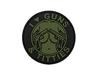 Патч 8FIELDS GUNS & TITTIES PVC