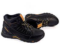 Мужские ботинки Columbia 122 чёрные, зимние, натуральная кожа, натуральная  шерсть 603bff7e646