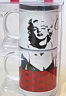 """Модный набор из 2-х чашек """"Монро"""" подарочная упаковка"""