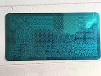Пластина для стемпинга (металлическая) XY-P06, фото 1