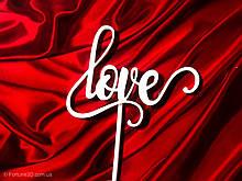 Топпер Love |  Топеры на день влюбленных | Топпер любовь | Топпер в блестках