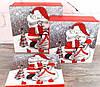 Новогодняя подарочная коробка с 3D аппликацией и глиттером РАЗМЕР L
