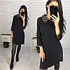 Женское красивое приталенное платье (3 цвета)
