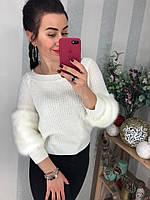 Женский модный свитер со спущенными плечами (3 цвета), фото 1