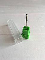 Алмазная маникюрная насадка для фрезера кукуруза Flyme (зеленая)