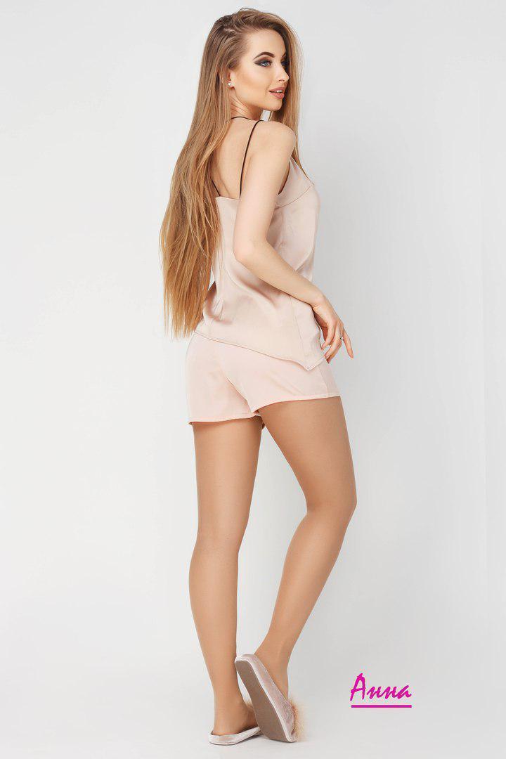 ... Женская шелковая пижама с майкой и шортами в расцветках liv720030 f663cd1524f14
