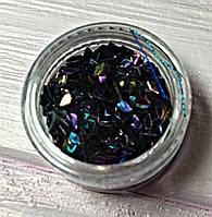 Декор для ногтей Блестящиеромбики в баночке