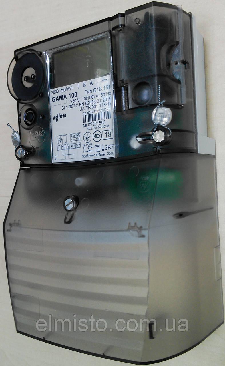 "Электросчетчик GAMA 100 G1B 151.320. F3.B2.P4.C310.v1 230V 10(100)А, 1-ф., RS485, под ""зеленый тариф"""