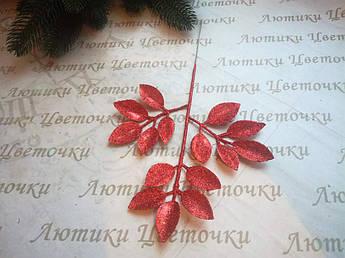 Веточка блестящая красная