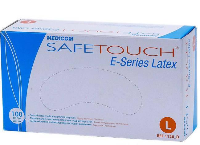 Рукавички латексні L н/ст MEDICOM Safe-Touch E-Series припуд. (50пар/упак), фото 2