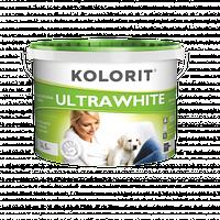 Фарба KOLORIT ULTRAWHITE Глибокоматовая водно-дисперсійна фарба, 10 л