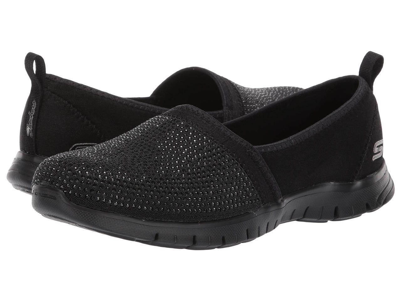 Туфли без каблука (Оригинал) SKECHERS Ez Flex Renew - Shimmer Show Black