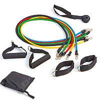 Набор эспандеров с петлями Pro Supra Power Bands 5 жгутов FI-5955