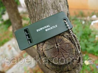 Сигнальный Свисток  Survival Whistle Для Наборов Выживания , фото 2