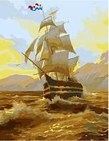Картина по номерам. Корабль на рассвете