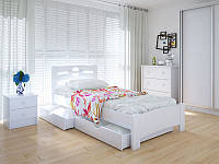 Кровать MeblikOff Кантри с ящиками (90*200) ясень, фото 1