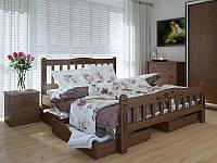 Кровать MeblikOff Луизиана Люкс с ящиками (160*200) ясень, фото 1