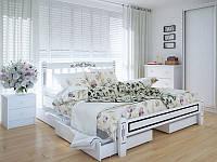 Кровать MeblikOff Вилидж Люкс с ящиками (160*200) ясень, фото 1