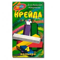 """Мел цветной МЦП-4 """"Колорит"""", 4 шт. (Y)"""