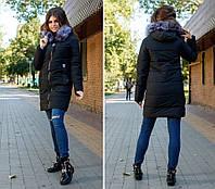 Женская удлиненная куртка на зиму