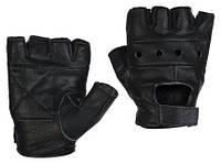 Кожаные Перчатки без пальцев Унисекс