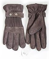 Мужские перчатки замша + вязка